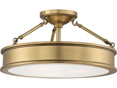 Minka Lavery Harbour Point Liberty Gold 19'' Wide Glass Semi-Flush Mount | MGO4177249