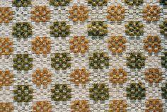 "overshot | cotton + linen + wool | 90"" x 36-5/8"" | New Hampshire, U.S.A. | c. 1840"