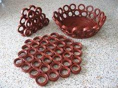 Resultado de imagen para pinterest cesteria en papel periodico