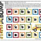 Free! School Bus Bump! Fun reinforcer! one page game board is a great way to practice skip counting by 10's