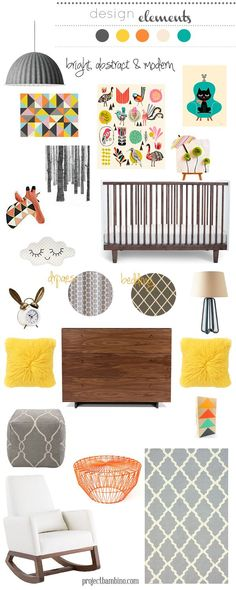 bright abstract and #modern #nursery