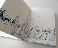 """http://www.silviacorderovega.com/index.php?/applied-calligraphy/variaciones/ """" Variaciones de un ínfimo esplendor """" Edition and book design by Silvia Cordero Vega. Logo and calligraphies by Brody Neuenshwander"""