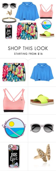 """""""Untitled #1516"""" by moestesoh ❤ liked on Polyvore featuring Balenciaga, NIKE, Bernie Mev, Yazbukey, Ace, Casetify, Accessorize and Dolce Giavonna"""