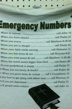 emergeny numbers leave out bottom 5