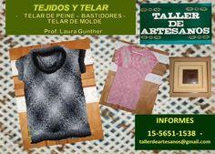 Tejidos y Telares www.cursosdeartesanos.com Tel. 011-15-56511538