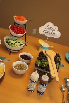 Sew In Love: Baby Sprinkle - food idea... salad Sprinkle!