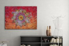 Tablou din aluminiu striat Mandala Tapestry, Home Decor, Hanging Tapestry, Tapestries, Decoration Home, Room Decor, Home Interior Design, Needlepoint, Wallpapers