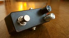 Little bodies, big sounds - the second iteration. Black version. These small DIY guitar pedals sport one vintage germanium transistor each. Perfect when you need to boost your volume and fatten the tone. They also get overdriven when cranked full open!