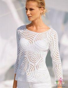 Пуловер белыми кругами. Обсуждение на LiveInternet - Российский Сервис Онлайн-Дневников