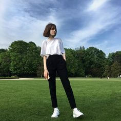 Zodiacs🔱 - 👕Your Casual Outfit When You Meet Him👕 Korean Fashion Trends, Korean Street Fashion, Korea Fashion, Girl Fashion, Korean Outfits, Mode Outfits, Girl Outfits, Fashion Outfits, Simple Outfits