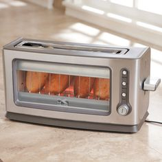 Kalorik 2-Slice Glass Panel Long Slot Toaster Long-slot toaster lets you view toasting progress. $99.95
