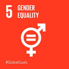 Another of my favorite global goals,  women and men are and should be treated as equal