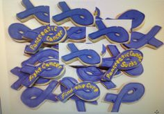 Pancreatic Cancer Support Ribbons - Decorated Sugar Cookies by I Am The Cookie Lady