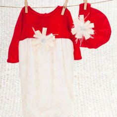Peaches 'N Cream Holiday Layette from Freckles Children's Boutique for $60.00