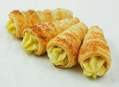 Puff Pastry Horns with Italian Pastry Cream