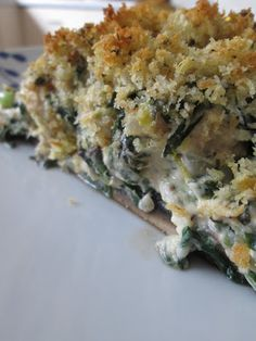 Who doesn't love stuffed mushrooms & spinach dip??  Well this recipe combines the best of both and it's healthy & low-fat! Get the recipe here on my blog: http://letthemeathealthy.blogspot.com/2013/03/salmon-stuffed-mushrooms.html