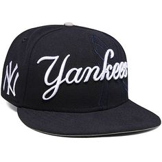 78638ab35 Men s New York Yankees New Era Navy Word Logo 59FIFTY Fitted Hat