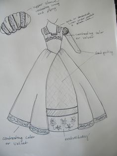 NEW!  I've been working on sketches for my Fall 2013 Designs for clients. This is one of my favorites!