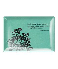 Take a look at this 'Look Deep Into Nature' Tray by Fringe Studio on #zulily today! $10 !!