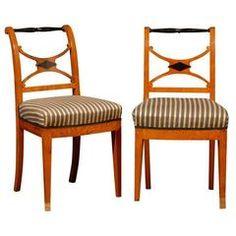 Set of Four 19th Century Karl Johan Swedish Chairs