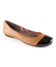 Love this Tan Bahama Patent Leather Flat by Oh! on #zulily! #zulilyfinds