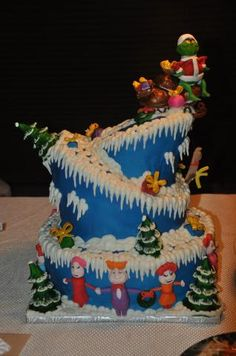 Grinch and Who Ville Christmas cake