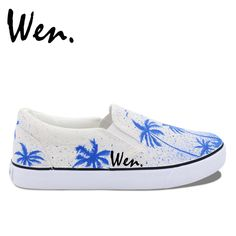 best website 29179 0addc ... OFF Aliexpress.com   Buy Wen Design Custom Original Hand Painted Shoes  Coconut Palms Tree The Summer Vacation Slip On White Canvas Sneakers Unisex  Gifts ...