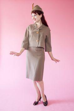 Vintage 1950s Forstmann Wool Suit #vintage #suit #wool #1950s #womens #forstmann #fallfashions @Etsy