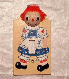 Cute Raggedy Ann light switch cover.