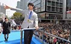 フィギュア:羽生選手パレードに9万2000人…仙台