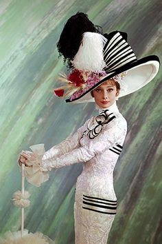 Audrey Hepburn In Hats (And On Your Coffee Table) #refinery29  http://www.refinery29.com/2013/07/49695/audrey-hepburn-hats-book#slide-7  Photo: Courtesy of The Kobal Collection / Reel Art Press