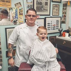 Tradition is lifeblood. and his son in what I consider a perfect photo. It doesn`t get any better than that. Barbers, Love Pictures, Father And Son, Latest Pics, Perfect Photo, Barber Shop, Chef Jackets, Men Casual, Traditional