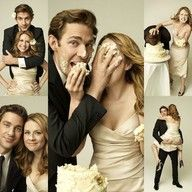 Yes, THIS is how wedding photos should be - I love them and I love The Office.