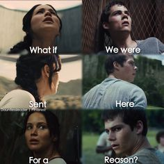 The Hunger Games and The Maze Runner. I love this!!<<even though they are nothing alike i <3 it