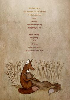 All that could have been by =Culpeo-Fox on deviantART (The image at the bottom is lovely!)