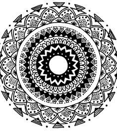 "Tribal"" Mandala Print"
