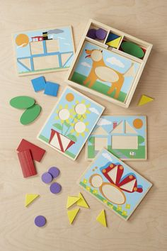Your child will learn the importance of patterns with these Beginner Pattern Blocks from Melissa & Doug. Buy this development toy for your child's growth. Developmental Toys, Pattern Blocks, Toddler Toys, Your Child, Preschool, Christmas Gifts, Learning, Children, Creative