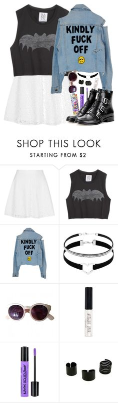 """""""Dreams only last for a night"""" by crazydirectionergirl ❤ liked on Polyvore featuring Topshop, Zoe Karssen, Urban Outfitters, NYX, MICHAEL Michael Kors, Punk, grunge, alltimelow and nyx"""