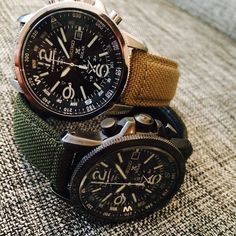 """""Seiko's stylish solar chronograph with khaki nylon straps a steel around $400."" -@tedstaffordgq #watchwednesday"""
