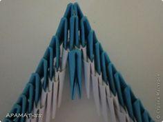 Мастер-класс, Поделка, изделие Оригами модульное: Дельфин Бумага. Фото 21