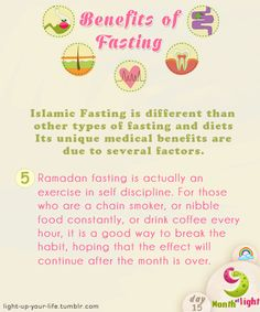 Month Of Light Health Benefits Of Islamic Fasting Benefit (5) written by: Dr. Shahid Athar