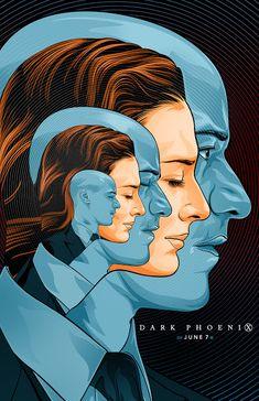 Sophie Turner as Jean Grey and James McAvoy as Charles Xavier (Professor X) in 'X-Men: Dark Phoenix' poster Dark Phoenix, Phoenix Art, Poster Series, New Poster, Art Series, Christmas Mom, A Christmas Story, Jean Grey, Poder Marvel