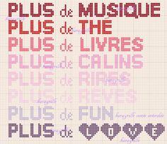 free- plus... Free Plus, Blackwork, Periodic Table, Phrases, Kara, Couture, Sew, Cross Stitch, Words