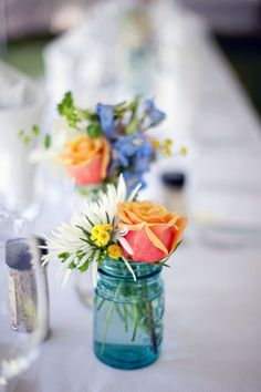 Bright flowers on a crisp white background