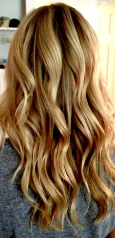 Beachy waves + hair color