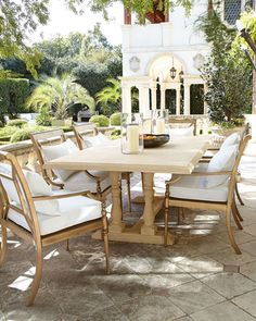 Aluminum Outdoor Dining Chairs~Horchow