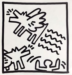 View this item and discover similar for sale at - Keith Haring (untitled) Flying Dogs Lithograph 1982 Double-sided offset lithograph published by Tony Shafrazi Gallery, New York, 1982 from an edition of Keith Haring Prints, Keith Haring Art, Flying Dog, Principles Of Art, Art Walk, Albrecht Durer, Renaissance Art, Art Auction, Sculpture Art