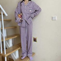 Cute Pajama Sets, Cute Pajamas, Girls Pajamas, Korean Outfit Street Styles, Korean Outfits, Cute Sleepwear, Sleepwear Women, Korean Girl Fashion, Korean Street Fashion