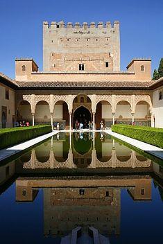 Palacio de Comares, uno de los tres palacios que forman el Palacio Nazaríes, Alhambra, Patrimonio de la Humanidad, Granada, Andalucía, España, Europa
