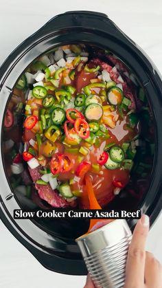 Carne Asada, Mexican Food Recipes, Ethnic Recipes, Healthy Recipes, Roast Steak, Slow Cooker, Enchilada Sauce, Barbacoa, Smoked Paprika